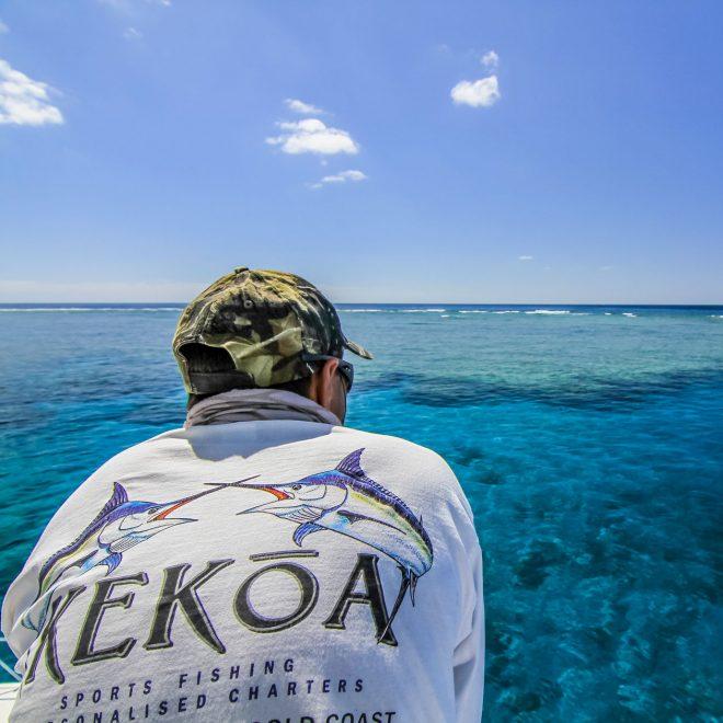 Capt. Luke overlooks the reef